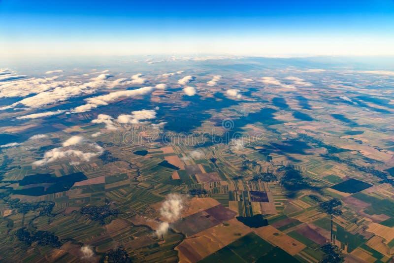 从10的地球照片 000m在地面上 库存照片