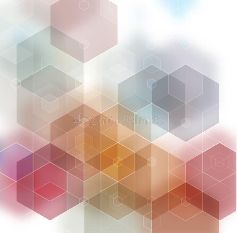 轻的多色抽象织地不很细多角形背景 传染媒介模糊的三角设计 库存例证