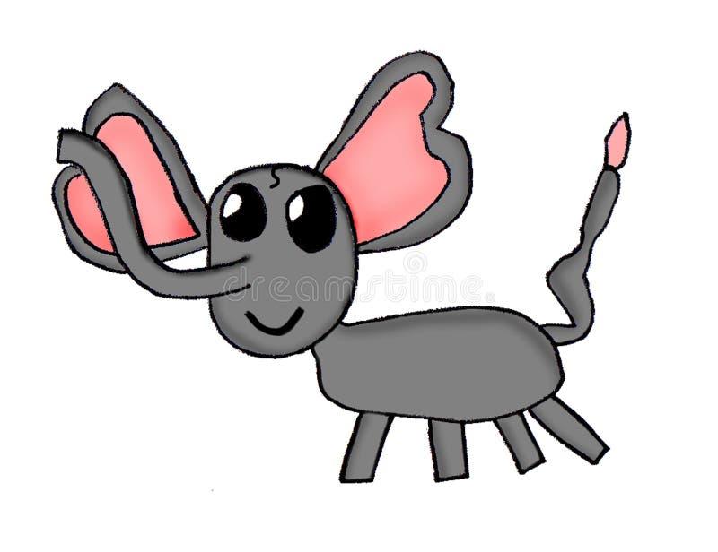 画的孩子-大象 图库摄影