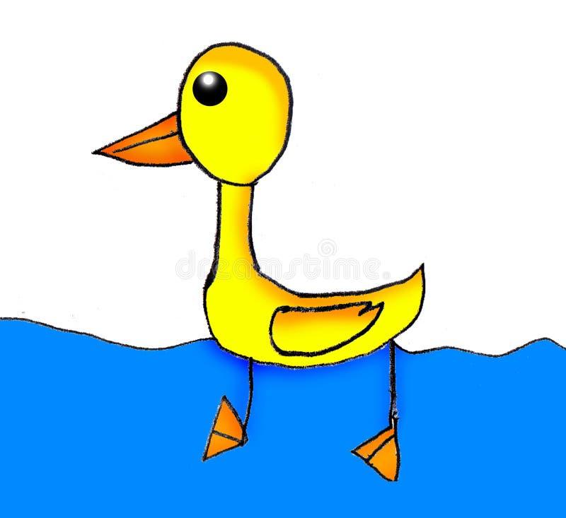 画的孩子-鸭子 库存图片