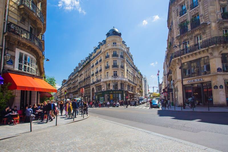 巴黎的市中心在列斯Halles地区 库存图片