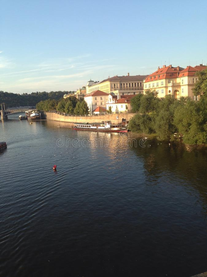 水的布拉格 库存图片