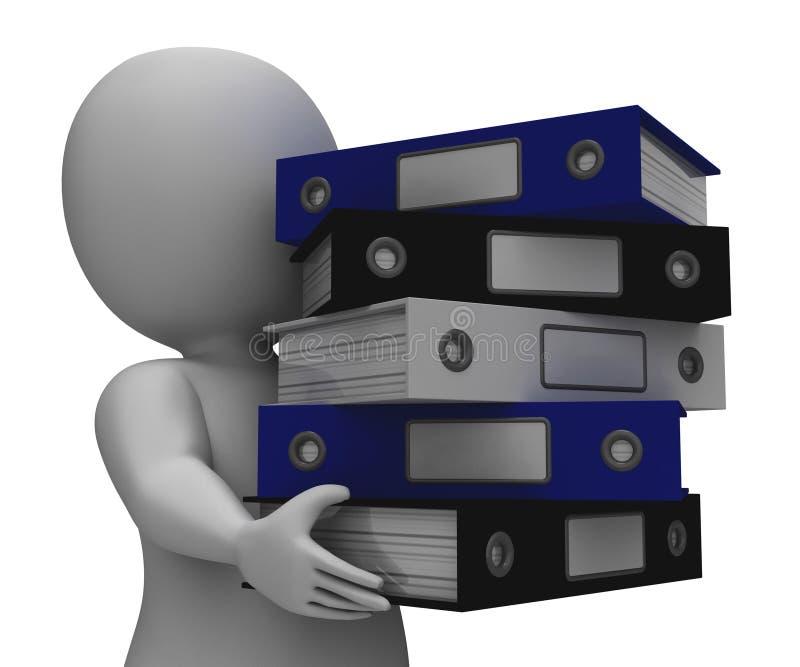 组织的干事运载组织的纪录 向量例证