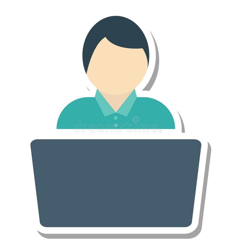 的开发商或自由职业者编辑可能被隔绝的传染媒介的象 向量例证