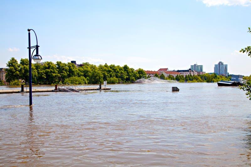 洪水的德国城市2013年 免版税库存照片