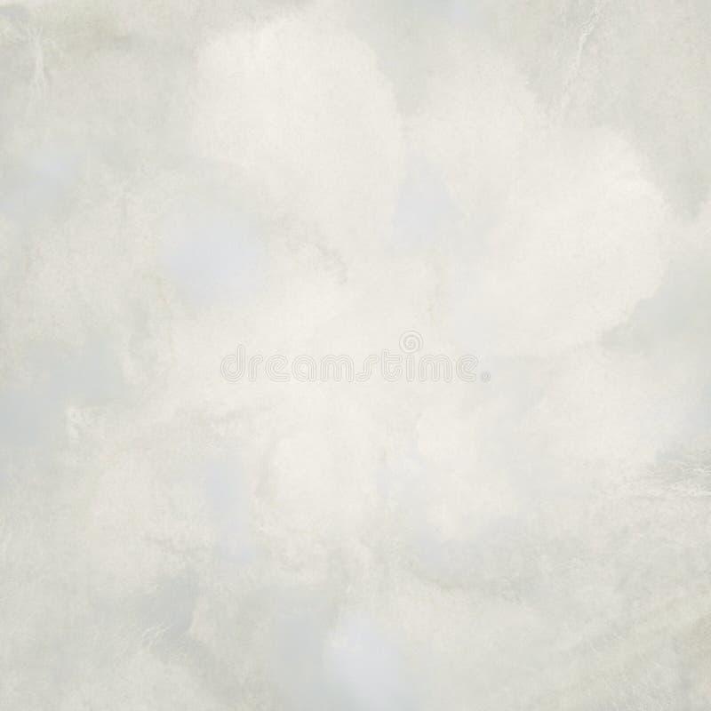 轻的抽象白色,灰色绘了泄漏水彩背景 免版税库存图片