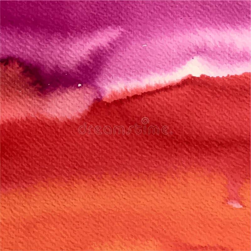 画的抽象水彩背景,水彩画纹理 向量例证