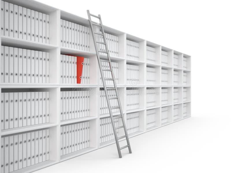 组织的文件, 3D 库存例证