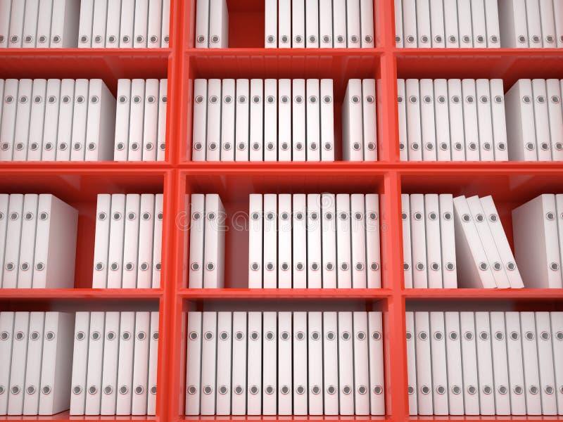 组织的文件, 3D 向量例证