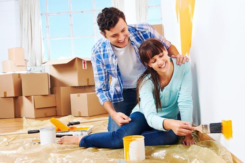 绘的新的家 免版税库存图片