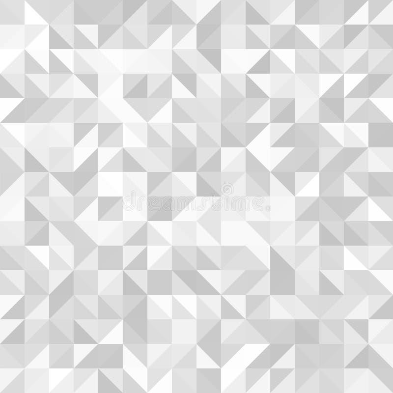 轻的无缝的几何背景 抽象向量模式 库存例证