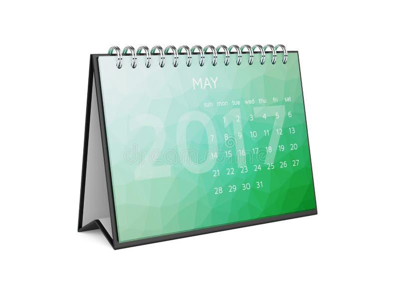2017的日历可以 向量例证