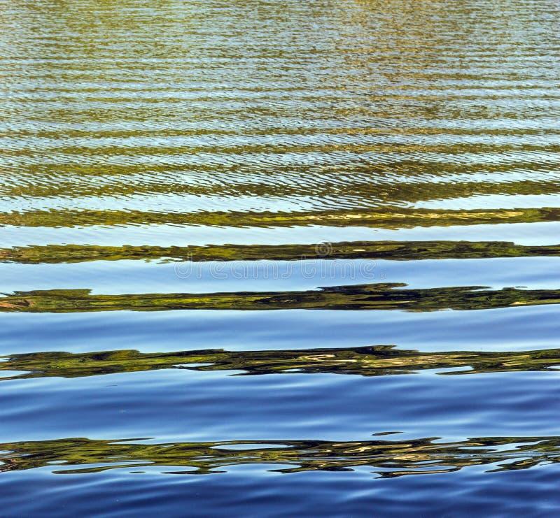 水的样式与波浪的 免版税库存照片