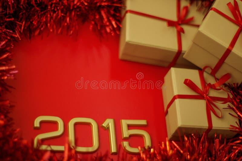 年的概念数字2015年 免版税库存照片