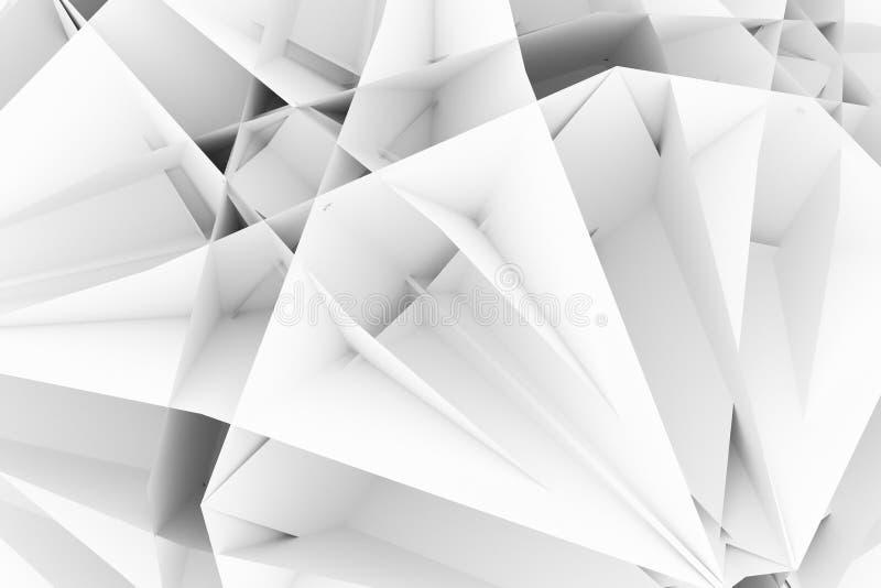 的灰色或装饰黑白的b&w,例证CGI,任意几何背景,设计纹理背景的 3d?? 库存例证