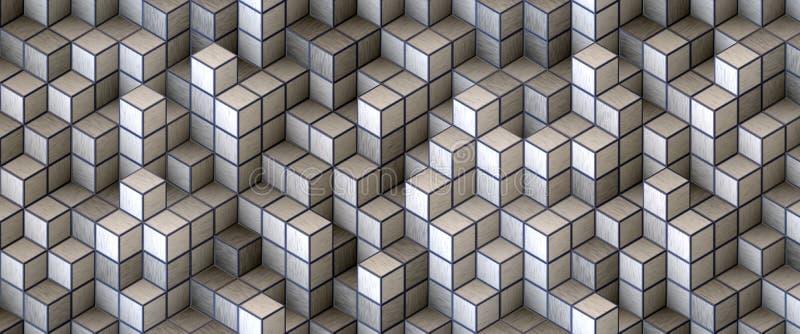 组织的白色块 库存例证