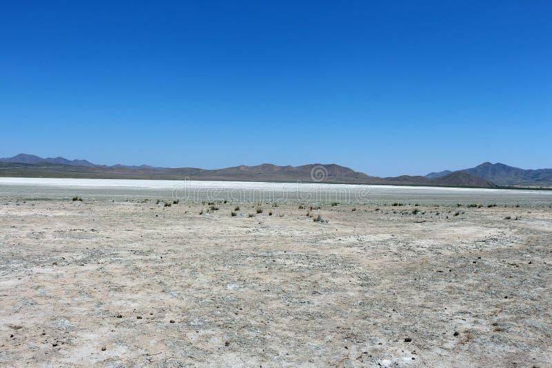 死的盐湖 图库摄影