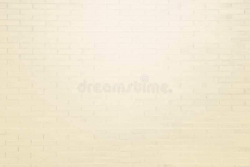 轻的米黄难看的东西砖墙纹理背景 免版税库存照片