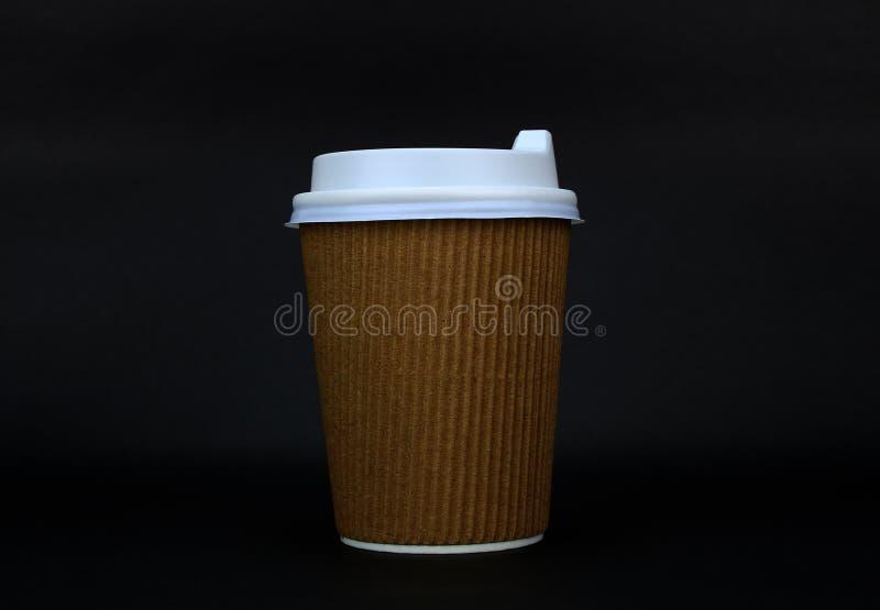 去的纸咖啡杯咖啡 库存照片