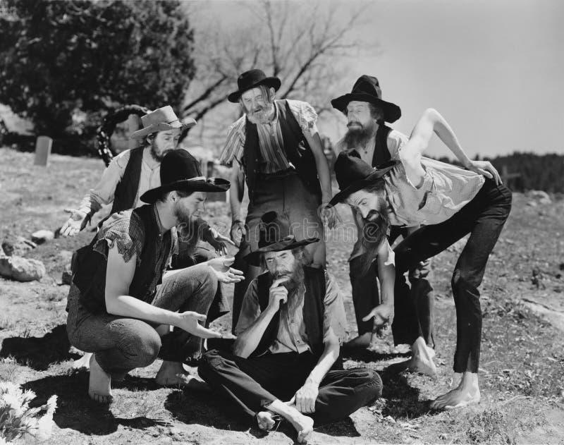 傻的美国东南部山区的农民(所有人被描述不更长生存,并且庄园不存在 供应商保单将没有mod 免版税图库摄影