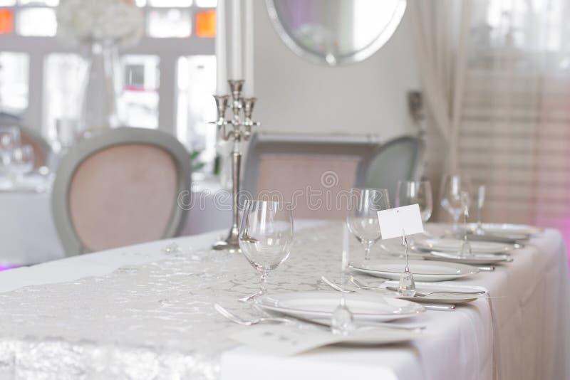 的美好的婚礼桌集合的图象 库存照片
