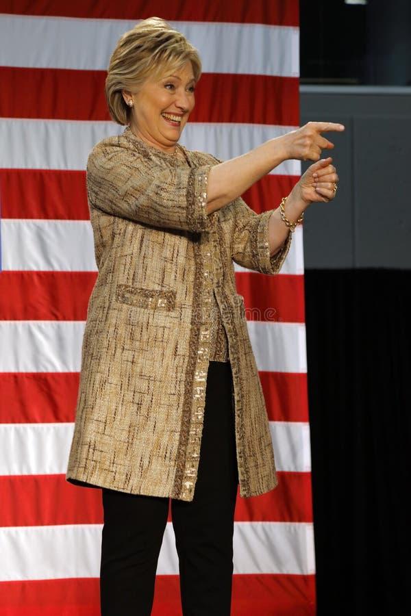 总统的职务的希拉里・克林顿竞选在SW学院Los天使 库存照片