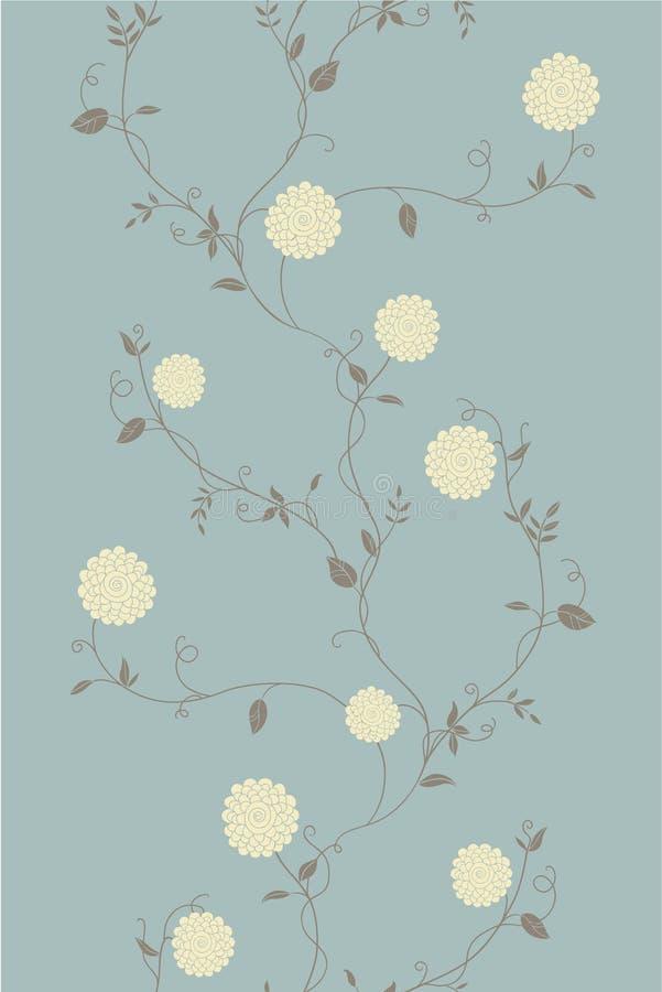 轻的花卉葡萄酒无缝的样式 库存例证