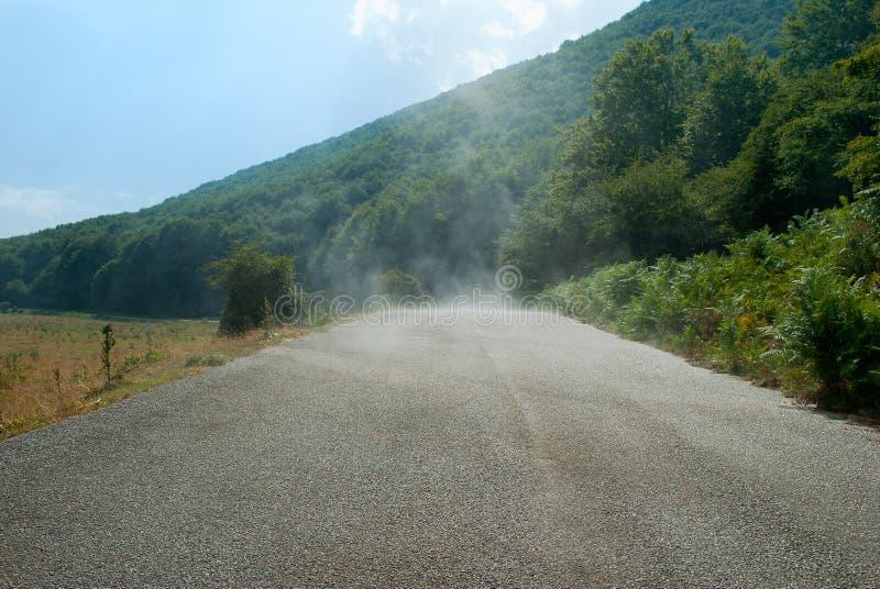 水的蒸发从tha路的 库存照片