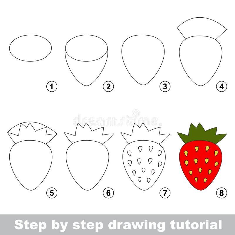 困难的简单的水平 孩子教育和赌博 孩子的室内比赛 如何画红色草莓图片