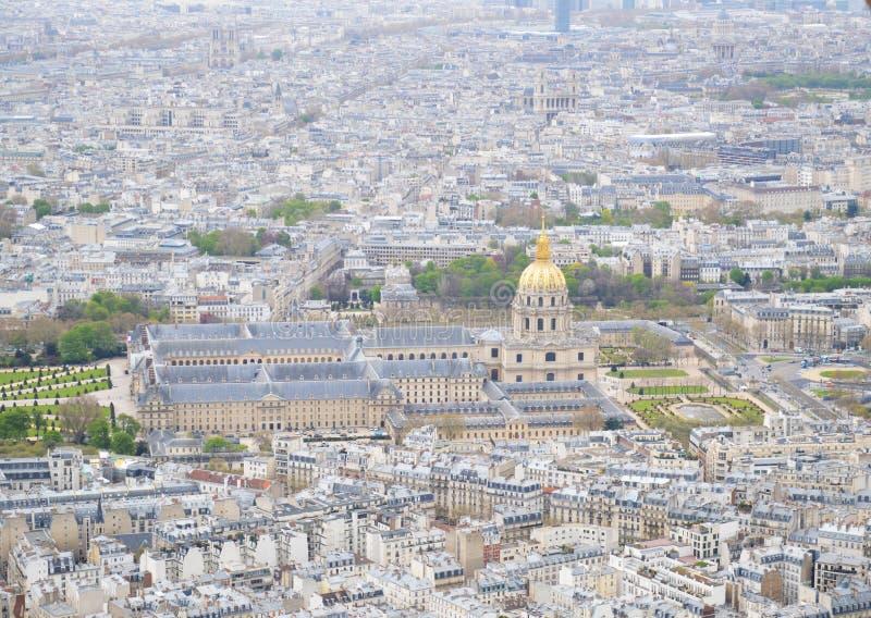 巴黎的评断从艾菲尔铁塔的 库存照片