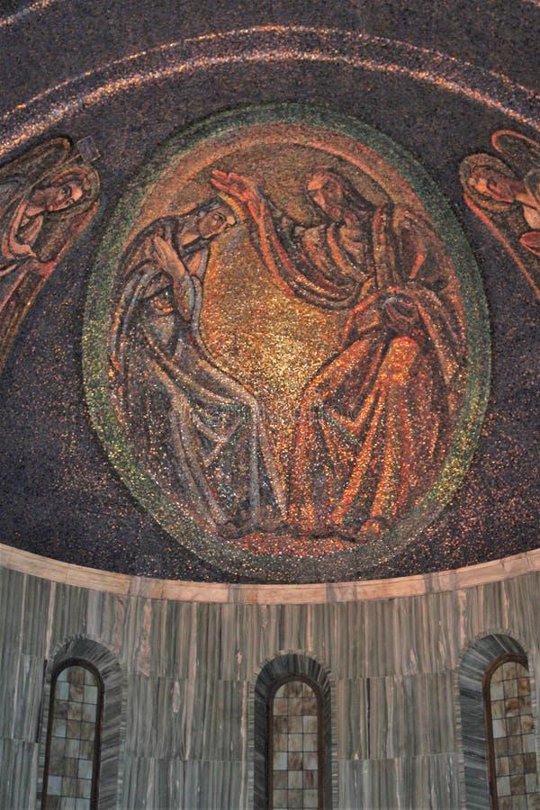的里雅斯特,圣Giusto大教堂 详细资料 免版税库存照片