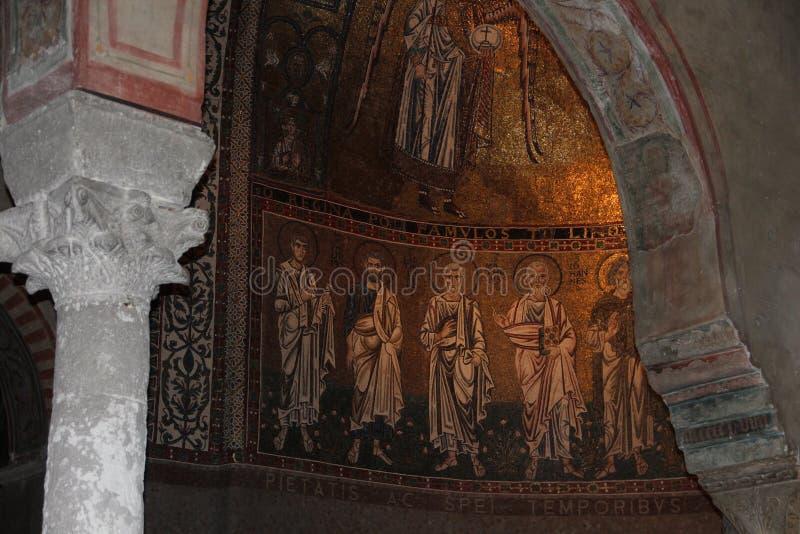 的里雅斯特,圣Giusto大教堂 详细资料 免版税库存图片