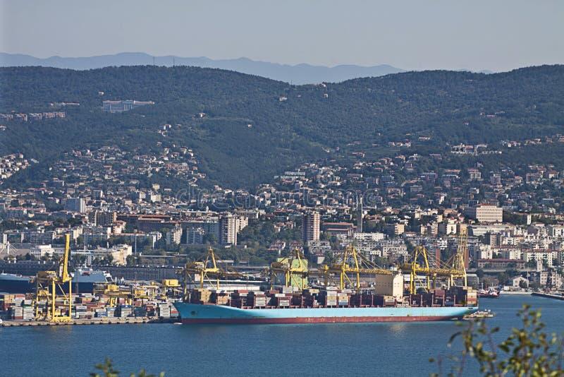 的里雅斯特,新的港口 库存照片