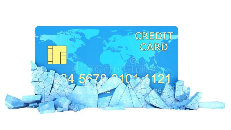 冻结的银行帐户概念 库存例证