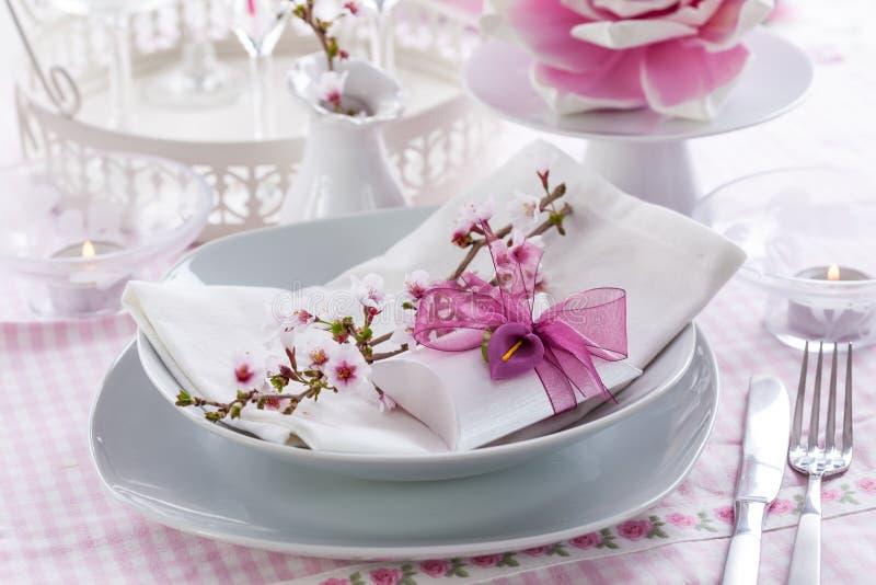 细致的餐位餐具 免版税图库摄影