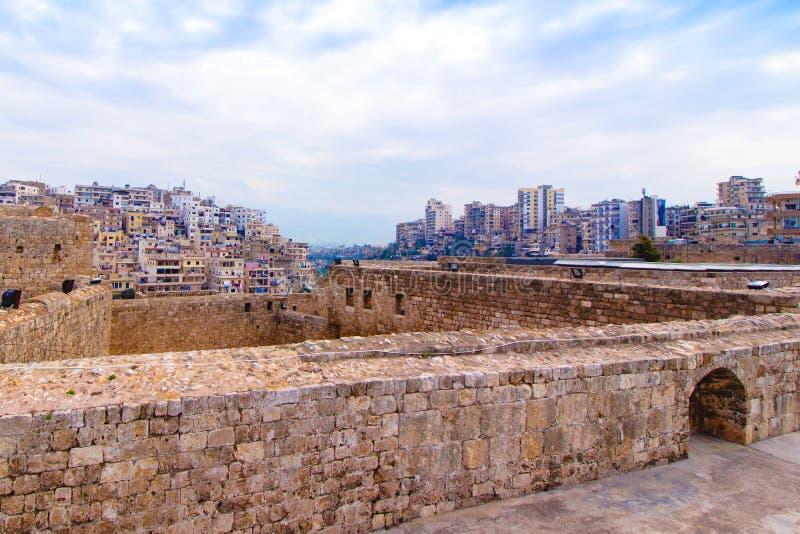的黎波里都市风景在黎巴嫩 免版税图库摄影