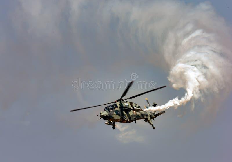 轻的Compbat直升机 库存图片