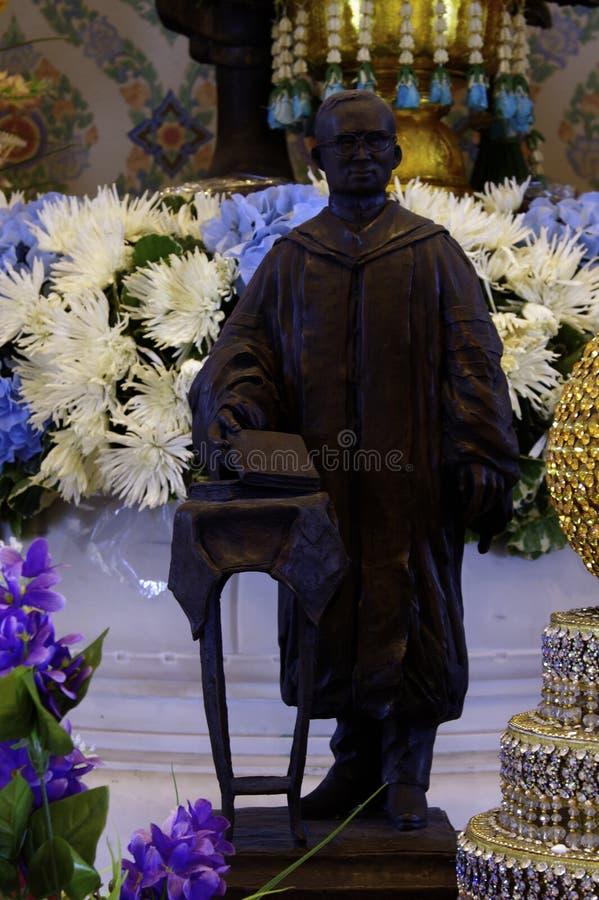 他的Magesty国王Rama雕塑IX 图库摄影
