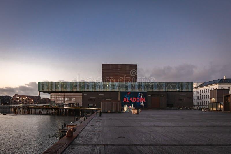 皇家丹麦剧场在哥本哈根 库存照片