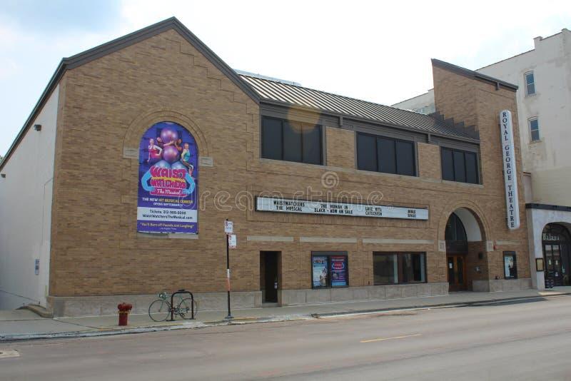 皇家乔治剧院芝加哥 免版税图库摄影