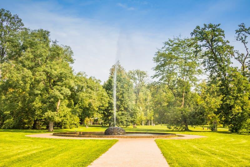 皇家公园Stromovka Krà ¡ lovskà ¡ Obora Stromovka在布拉格,捷克 免版税库存图片