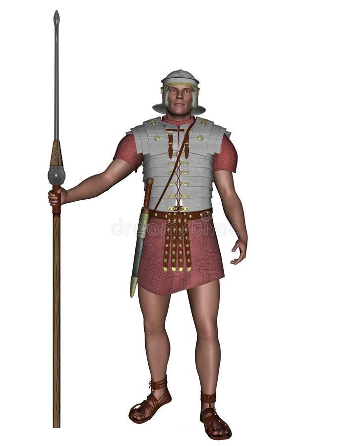 皇家军团罗马战士 库存例证