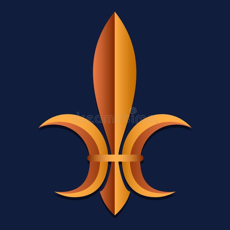 皇家力量的标志在中世纪法国 仿效 纹章 背景看板卡祝贺邀请 也corel凹道例证向量 向量例证