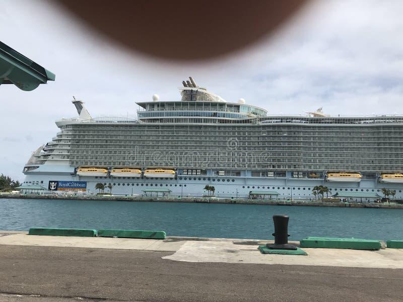 皇家加勒比巡航中止 免版税库存照片
