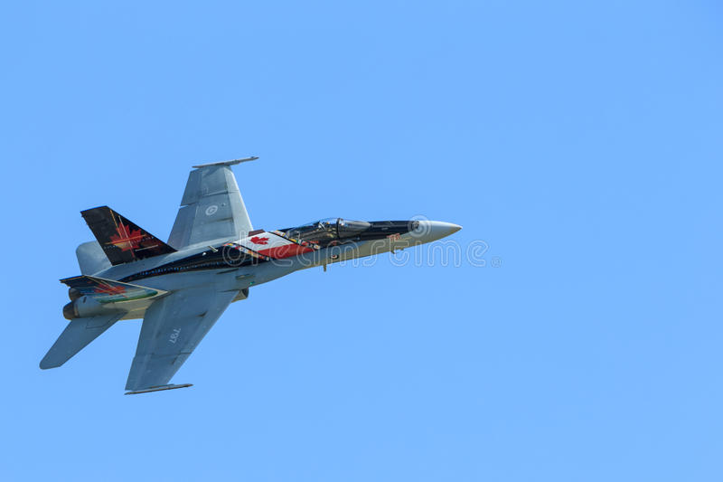 皇家加拿大人空军队(RCAF) CF-18,加拿大油漆。 图库摄影