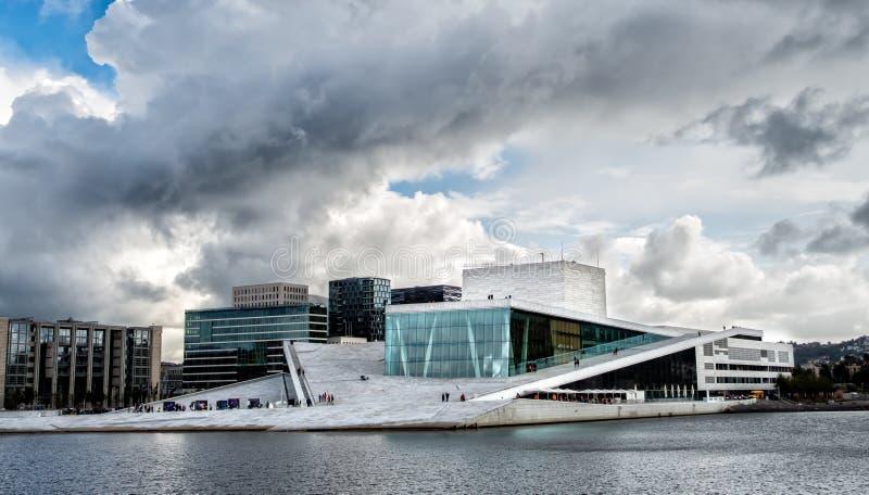 皇家国家歌剧院议院在奥斯陆,挪威 库存图片