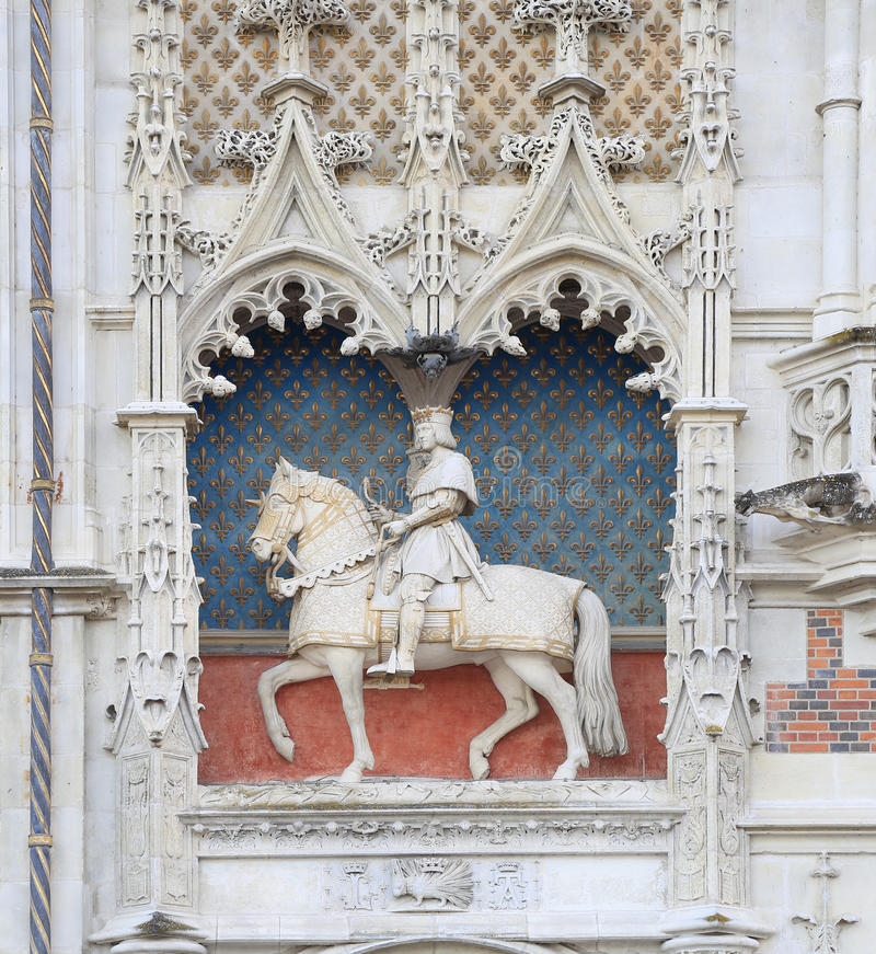 皇家大别墅de布卢瓦内部,法国 库存照片