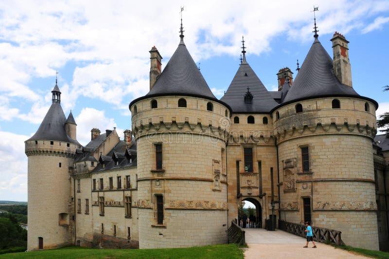 皇家大别墅de肖蒙,卢瓦尔河 库存照片