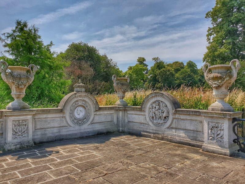 皇家天堂般的庭院 库存照片