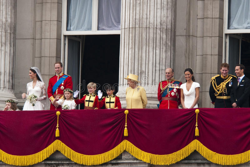 皇家婚礼 库存图片